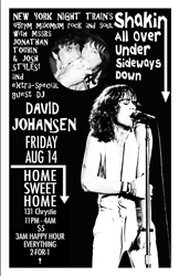 DAVID JOHANSEN AS JONATHAN TOUBIN'S GUEST DJ AT HOME SWEET HOME